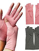 cheap -压力手套棉花疼痛缓解关节护理手套男女皆宜的健身半指手套治疗手腕支撑压缩手套