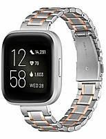 cheap -smartwatch band compatible with fitbit versa 2 armband / fitbit versa / versa lite / versa se armband, quick release stainless steel metal replacement armband (silver rose)