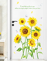 cheap -Floral & Plants Wall Stickers Study Room / Bedroom, Pre-pasted PVC Home Decoration Wall Decal 1pc