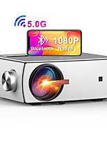 cheap -5G WiFi Bluetooth Projector YG430 Enjoy 3 Native 1080P Projector Full HD Projector  Dobby Audio DTS Home Theater Beamer Supports Zoom & Keystone Compatible with TV Stick/iOS/Android/PS4/PPT/HDMI/USB