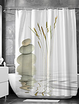 cheap -Waterproof Fabric Shower Curtain Bathroom Decoration and Modern and Classic Theme and Landscape