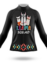 cheap -21Grams Women's Long Sleeve Cycling Jersey Summer Spandex Polyester Black Animal Bike Jersey Top Mountain Bike MTB Road Bike Cycling Quick Dry Moisture Wicking Breathable Sports Clothing Apparel