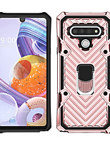 cheap -Phone Case For LG Back Cover LG K51 Stylo 6 Shockproof Dustproof Ring Holder Solid Colored TPU
