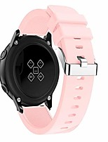 cheap -Smartwatch band for samsung galaxy watch active wristbands small silicone replacement band hand strap watch band wrist strap adjustable replacement band watch band replacement wriststraps (pink)