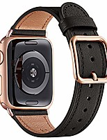 cheap -smartwatch band straps compatible with apple watch strap 38 mm 40 mm 42 mm 44 mm, grain leather strap for iwatch series 6 5 4 3 2 1, se, special design (42mm 44mm, black & rose gold)