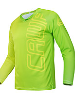 cheap -CAWANFLY Men's Long Sleeve Cycling Jersey Downhill Jersey with Pants Dirt Bike Jersey Winter Green Novelty Funny Bike Tee Tshirt Jersey Top Mountain Bike MTB Road Bike Cycling Quick Dry Breathable