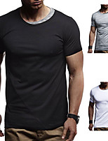 cheap -Men's T shirt Hiking Tee shirt Short Sleeve Tee Tshirt Top Outdoor Quick Dry Lightweight Breathable Sweat wicking Spring Summer White Black Gray Hunting Fishing Climbing