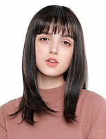 cheap -h&bwig long straight wigs for women silky wig with bangs synthetic hair for lady girl costume cosplay daily