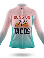 cheap -21Grams Women's Long Sleeve Cycling Jersey Summer Spandex Polyester Pink Gradient Bike Jersey Top Mountain Bike MTB Road Bike Cycling Quick Dry Moisture Wicking Breathable Sports Clothing Apparel