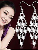 cheap -Women's Hoop Earrings Classic Fashion Romantic Punk Trendy Cute Sweet Earrings Jewelry Silver For Street Gift Date Birthday Festival 1 Pair