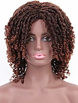"""cheap -violet 8"""" dreadlock synthetic braiding short wigs for black women ombre color dreadlocks wig faux locs wigs with curly ends african short curly daily wigs (8inch,1b/30)"""