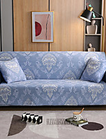 cheap -Stretch Sofa Cover Slipcover Elastic Sectional Couch Armchair Loveseat 4 or 3 seater L shape Blue Floral Flower Soft Durable Washable