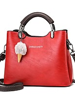 cheap -Women's Bags Top Handle Bag Daily Going out 2021 Handbags Earth Yellow Wine Red Brown Black