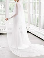 cheap -Long Sleeve Elegant & Luxurious Chiffon Wedding / Wedding Party Women's Wrap With Solid