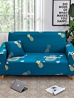 cheap -Pineapple Print Dustproof All-powerful Slipcovers Stretch Sofa Cover Super Soft Fabric Couch Cover with One Free Boster Case(Chair/Love Seat/3 Seats/4 Seats)