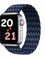 cheap -Smart watch band braided solo loop compatible with apple watch band 42mm 44mm,elastics strap replacement wristband for iwatch series 6/se/5/4/3/2/1(blue/black #8)
