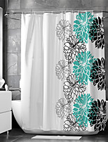 cheap -Waterproof Fabric Shower Curtain Bathroom Decoration and Modern and Floral / Botanicals