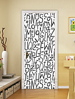 cheap -2pcs Self-adhesive Creative Black Letter Door Stickers For Living Room Diy Decoration Home Waterproof Wall Stickers