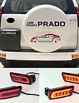 cheap -OTOLAMPARA 1 Kit LED Tail/ Brake Light Bulbs for Toyota Land CRUISER PRADO 2010-2020 Year Super Bright Lightness Double Colors LED Tail Turn Signal Lights