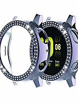 cheap -protective cover for galaxy watch active 2, 40 mm / 44 mm, double row, with glitter frame, gray, active 2 40mm