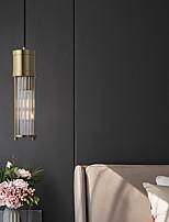 cheap -LED Pendant Light Bedside Light Island Light Modern Crystal 7cm Lantern Desgin Pendant Light Copper Brass 110-120V 220-240V
