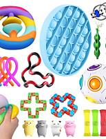 cheap -22 pcs Fidget Sensory Toy Set Stress Relief Toys Autism Anxiety Relief Stress Pop Bubble Fidget Toys For Kids Adults