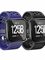 cheap -Smart watch band sport bands compatible for fitbit versa bands, breathable sillicone replacement bands sport watch strap wristband for fitbit versa/versa lite/versa special edition/versa 2 women men