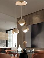cheap -LED Pendant Light Modern Gold 20 cm Geometric Shapes Stylish Minimalist Painted Finishes 110-120V 220-240V