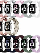 cheap -Smartwatch band 12 pack compatible with apple watch band 38mm 42mm 40mm 44mm, soft silicone sport bands strap compatible with iwatch series 6/5/4/3/2/1 se (38mm/40mm-s/m)