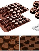 cheap -24 Grids Silicone Baking Mold for Rose Love Bow Shaped Chocolate Cake Jelly Pudding Multiple Shape Candy Form Cake DIY Kitchen Baking Tools