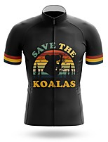 cheap -21Grams Men's Short Sleeve Cycling Jersey Summer Spandex Polyester Black Rainbow Bike Jersey Top Mountain Bike MTB Road Bike Cycling Quick Dry Moisture Wicking Breathable Sports Clothing Apparel