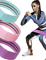 cheap -Hip Trainer Booty Bands Resistance Band Set Sports Cotton / Polyester Latex silk Home Workout Yoga Fitness Portable Non Toxic Stretchy Strength Training Anti Slip Anti-slip Strap Lift, Tighten And