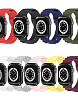 cheap -Smart Watch Band for Apple iWatch 1 pcs Sport Band Classic Buckle Silicone Replacement  Wrist Strap for Apple Watch Series SE / 6/5/4/3/2/1