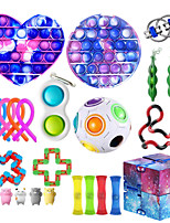 cheap -23 pcs Fidget Toys Anti Stress Toy Stretchy Strings Mesh Marble Relief Gift For Adults Children Sensory Antistress Relief Toys