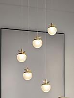 cheap -LED Pendant Light  Acrylic Apple Lights Nordic Copper Light Bedroom Living Room Dining Light Warm White/Cool White 6W 480LM