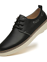 cheap -Men's Oxfords Casual Vintage Daily Nappa Leather Breathable Black Brown Beige Spring Summer