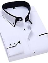 cheap -Men's Ceremony Suits Mandarin Standard Fit Patchwork Cotton Blend