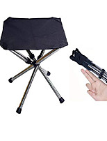 cheap -folding mini camping stool, portable lightweight camping stool, small size and stainless steel outdoor foldable chair for camping, travel, hiking, bbq, fishing, garden, beach (black-small)
