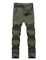cheap -Men's Hiking Pants Trousers Softshell Pants Winter Outdoor Thermal Warm Windproof Fleece Lining Quick Dry Pants / Trousers Bottoms Male black Male gray Male Army Color Camping / Hiking Hunting