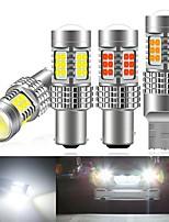 cheap -2PCS P21W PY21W W21W W21/5W led BAY15D BA15S White Car LED Bulb Turn Signal 1156 3030 6000K T20 W21/5W 7443 W21W 7440 rake Lights
