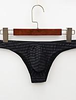 cheap -Men's 1 PC Basic Briefs Underwear Low Waist Black Blue Purple M L XL