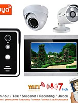 cheap -1080P Camera with Night Vision Wired Record Video Door Phone Doorbell Intercom System with 2CH Security Camera