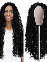cheap -curly wigs for black women deep wave wig 24 inch brazilian wet and wavy wig with rose intranet curly hair wig heat resistant fiber pre plucked natural hairline wigs, black