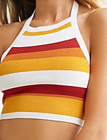 cheap -2021 spring and summer european and american hot models sexy women's suspender striped vest ins cropped one-piece hair top t1456