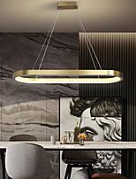 cheap -LED Pendant Light Kitchen Island Light Modern Nordic Gold Circle 90cm Metal Electroplated 110-120V 220-240V
