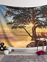 cheap -Wall Tapestry Art Decor Blanket Curtain Hanging Home Bedroom Living Room Decoration Polyester Tree Sunset
