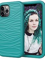 preiswerte -Telefon Hülle Handyhüllen Für Apple Rückseite iPhone 12 Pro Max 11 SE 2020 X XR XS Max 8 7 Stoßresistent Staubdicht Linien / Wellen Solide TPU