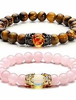 cheap -jovivi king&queen crown distance couple bracelets for men women 8mm natural stone healing energy beads stretch bracelet