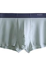 cheap -Men's 1 PC Basic Boxers Underwear / Briefs Underwear Low Waist Royal Blue XXL