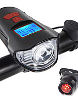 cheap -LED Bike Light Front Bike Light Rear Bike Tail Light Bike Horn Light LED Bicycle Cycling Waterproof Portable LED Rechargeable Li-Ion Battery 800 lm Natural White Everyday Use Cycling / Bike / 120